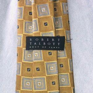 ROBERT TALBOTT Best Of Class Silk Tie Yellow Gold